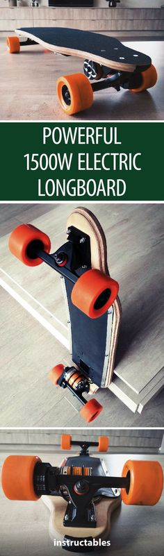Powerful Electric Longboard Learn how to make your own electric longboard and skate past your friends at high speed! Electronics Gadgets, Electronics Projects, Tech Gadgets, Scout Camping, Electric Skateboard, Cool Skateboards, Arduino Projects, Cool Tech, Alternative Energy