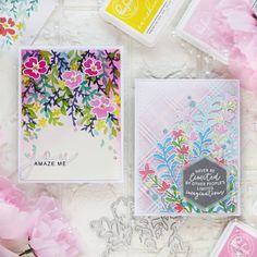 Floral Stencils – Pinkfresh Studio – rainbow in november Apple 6, Studio Cards, Liquid Watercolor, Hello Everyone, I Card, Card Making, Rainbow, Amazing, Floral