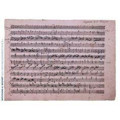 G. Henle Verlag Mozart Music Manuscript Poster 12 Variations