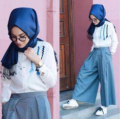 Palazzo for hijab Modern Hijab Fashion, Street Hijab Fashion, Islamic Fashion, Muslim Fashion, Cute Fashion, Modest Fashion, Hijab Casual, Hijab Chic, Hijab Style Dress