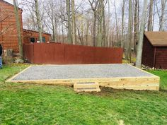 Like all of the services we provide at Best in Backyards, our gravel shed bases are a step above the competition. Hot Tub Backyard, Fire Pit Backyard, Backyard For Kids, Backyard Patio, Outdoor Landscaping, Outdoor Decor, Sloped Yard, Sloped Backyard, Building A Patio