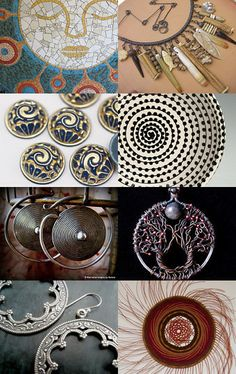 Round 'n' round we go! by shelfimprovement on Etsy--including Serenity Moon Pendant by Sky and Beyond