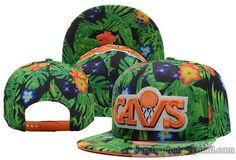 NBA Cleveland Cavaliers Snapback Caps Hats Camo Green Leaf