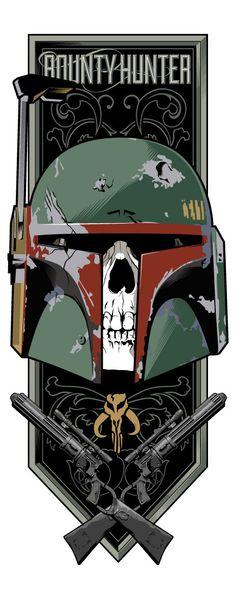 Star Wars Original Trilogy Triptych by Toby Gerber, via Behance