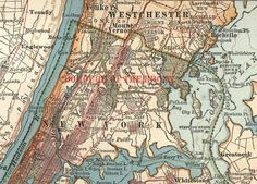 The Bronx (c. 1900), detail of a map of New York City from the 10th edition of Encyclopædia Britannica.