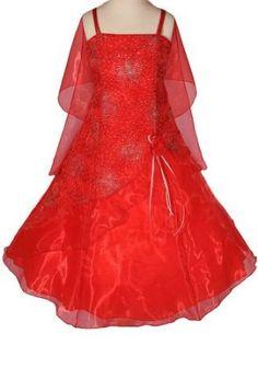 AMJ Dresses Inc Girls Red Flower Girl Christmas Dress Sizes 6 to 16,$39.99$39.99