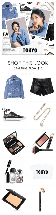 """TOKYO"" by larissa-takahassi ❤ liked on Polyvore featuring House of Holland, Mason by Michelle Mason, Dsquared2, Pomellato, Lancôme, Kevyn Aucoin, Bobbi Brown Cosmetics, NARS Cosmetics, Gucci and kpop"