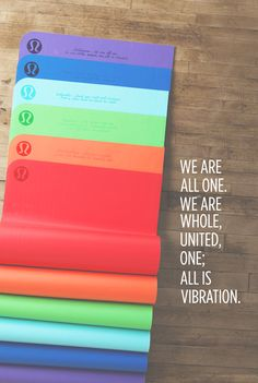 chakra mats: Colourful with a lovely quote plus sweat absorption Bikram Yoga, Ashtanga Yoga, My Yoga, Lulu Love, Yoga Accessories, Yoga Quotes, Yoga Meditation, Peace Of Mind, Yoga Inspiration