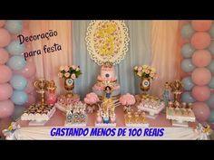 Festa em casa, com menos de 100 reais ( material reciclado ) - YouTube