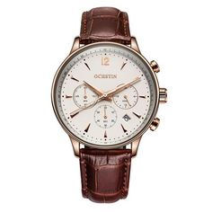 Cheap montre brand, Buy Quality montre men directly from China montre waterproof Suppliers: Mens Business Watches Top Brand Luxury Waterproof Chronograph Watch Man Leather Sport Quartz Wrist Watch Men Clock Male montres Mens Sport Watches, Mens Watches Leather, Leather Men, Watches For Men, Men's Watches, Luxury Watches, Wrist Watches, Simple Watches, Fashion Business