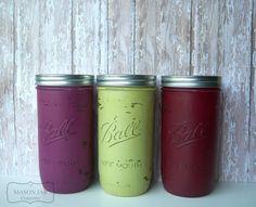 Woodland Berry Wedding Mason Jars Painted by themasonjarcompany, $21.00