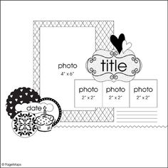 Good for fall pages - make smaller photos of fall items