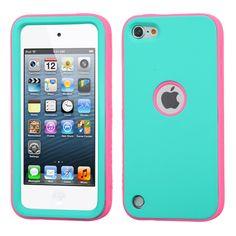 MYBAT VERGE Hybrid iPod Touch 5th / 6th Gen Case - Teal Green/Pink