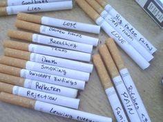 Smoking her feelings
