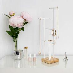 Trouva: Umbra Adjustable White Metal And Wood Jewellery Stand