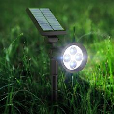 [2016 Upgraded] LED Spot Light, Solar Powered Garden LED Spotlight Adjustable Outdoor Waterproof Wall Light Bulb Outside Night Lights Security Lighting for Garden, Fence, Tree, Patio, Deck, Yard, Lawn, Pathway, Driveway, Stairs, Pool Area, Home: Amazon.co.uk: Lighting