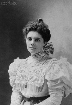 Portrait of Mrs. William K. Vanderbilt the former Alva Erskine Smith. She was the mother of Consuelo Vanderbilt.