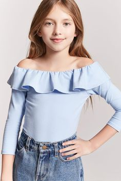 Outfits for kids Product Name:Girls Off-the-Shoulder Bodysuit (Kids), Category:girls_tops, Price:. Produktname: Off-the-Shoulder-Body für Mädchen (Kinder), Kategorie: girls_tops, Preis: Cute Girl Outfits, Kids Outfits Girls, Cute Outfits For Kids, Cute Summer Outfits, Girls Dresses, Preteen Fashion, Girls Fashion Clothes, Girl Fashion, Fashion Outfits