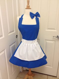 Is it wrong that I love thus so much? Belle is my favorite!  Etsy listing at https://www.etsy.com/listing/179287585/belle-peasant-adult-apron