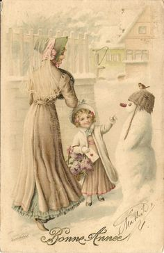 Christmas – The Postcard Gallery Vintage Christmas Images, Old Christmas, Victorian Christmas, Vintage Holiday, Christmas Pictures, Christmas Postcards, Vintage Pictures, Vintage Images, Etiquette Vintage