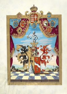 Hungarian Grant of Nobility and of Arms to Bartholomäus Martony, 1790.