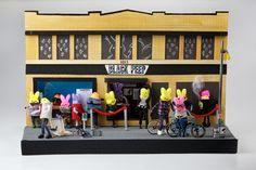 The Black Peep: Hipster Peeps wait outside this take on 14th Street music venue Black Cat. Created by Derek Hills and Brinda Krishnan, both 38, of Washington, D.C.