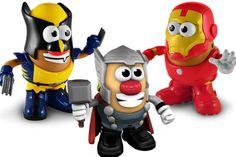 Mr, Potato con los trajes de los superhéroes de Marvel #Potato #Niños #Juguetes #Superheroes #Marvel #Thor #IronMan #Lobezno
