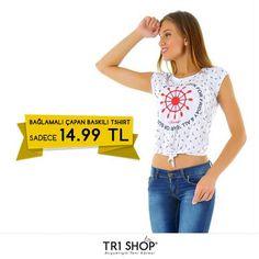KAMPANYA TR1Shop.com'da Bağlamalı Çapan Baskılı Bayan T-Shirt'de İndirim Rüzgarı Esiyor. Bayan T-Shirt KDV Dahil Sadece 14.99 TL'ye sahip olabilirsiniz. Son fırsatlar kaçırmayın. Detaylı bilgi: http://goo.gl/m2iFoV