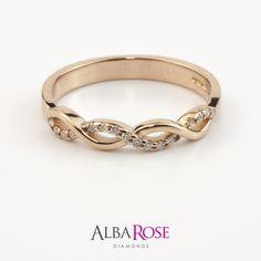 Alba Rose - Rose gold and diamond set wedding band d36022b http://www.albarose.com/product/d36022b_53418