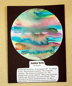 create a planet art project...watercolor and coffee filters.  Kids name planet and what you will find on their planet.