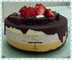 Mousse Cake  strawberry, chocolate & cream cheese