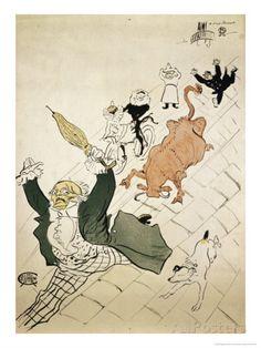 La Vache Enragee Giclée-Druck von Henri de Toulouse-Lautrec - AllPosters.at