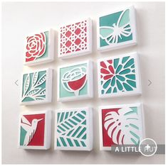 Canvas cutouts DIY wall art – flip over canvas, stencil, cut with x-acto knife. Glue paper to back of canvas for color. Diy Wall Art, Diy Art, Cut Out Canvas, Diy And Crafts, Paper Crafts, Paper Quilt, Deco Nature, Creation Deco, Kirigami