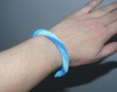 Bead crochet bracelet by natalylushchuk on Etsy