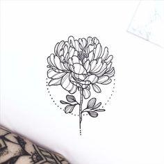 This love is alive back from the dead Future Tattoos, New Tattoos, Cool Tattoos, Chrysanthemum Tattoo, Carnation Tattoo, Stitch Drawing, Tattoo Feminina, Motif Floral, Piercing Tattoo