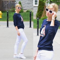 Old Navy Pullover, Zara Pants, Adidas Sneakers, Asos Shades, La Mer Collections Watch