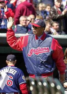 fb9fddd086c Larry Doby waves to the crowd at Jacobs Field in Cleveland on April 2
