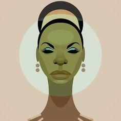 Nina Simone, Cantautor y luchadora por los derechos de los negros americanos.