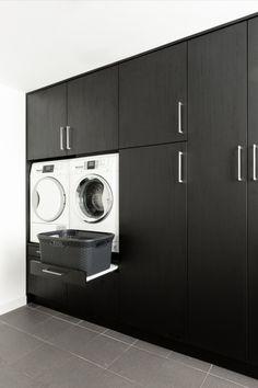 Laundry Room Design, Home Room Design, Dream Home Design, Bathroom Interior Design, House Design, Beautiful Houses Inside, Laundry Room Inspiration, Modern Tiny House, House Inside
