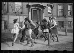 "Children playing ""Ring around the Rosie"" c.1940s Chicago"