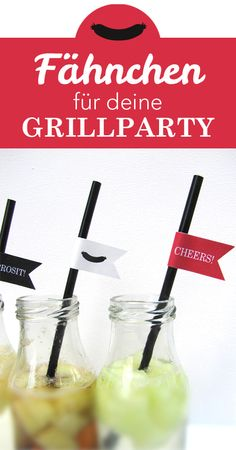 Tolle Fähnchen für die #Grillparty als #Freebie zum runterladen!