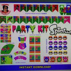 Splatoon Party Kit Instant  Download