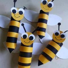 Bee Crafts For Kids, Diy Crafts To Sell, Fantastic Four Comics, Toilet Paper Roll Crafts, Bee Theme, Foam Crafts, Diy Bedroom Decor, Things To Sell, Projects