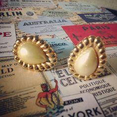Drops of Pearls Vintage Clips Earrings