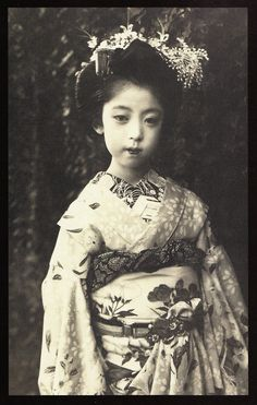 "Tragedy: one of countless poor Japanese girls forced into indentured servitude in the misnamed "" pleasure quarters."""