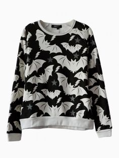 Cute Bat Print Sweatshirt - Choies.com