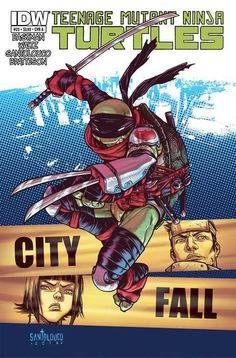 TMNT #25 Cover Reveals Leonardo's Foot Clan Costume - Comic Vine