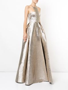 Alex Perry Lincoln halterneck flared gown
