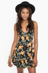 floral dress from Nasty Gal