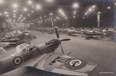 Castle Bromwich Aeroplane Factory, of CBAF in short, was the largest aircraft production plant in the wartime Britain. Ww2 Aircraft, Fighter Aircraft, Military Aircraft, Spitfire Supermarine, Old Planes, Jet, The Spitfires, Battle Of Britain, Royal Air Force